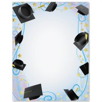 Glistening Graduation Specialty Border Papers Paperdirect