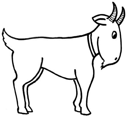 Goat Outline Drawing Free Clipart Images
