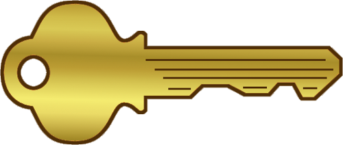 Gold Key 2 Png Bycotttage Clipart Free Clip Art Images