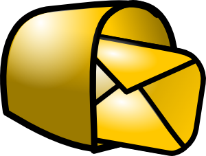 Gold Theme Mailbox Mail Clip Art Free Vector 4vector