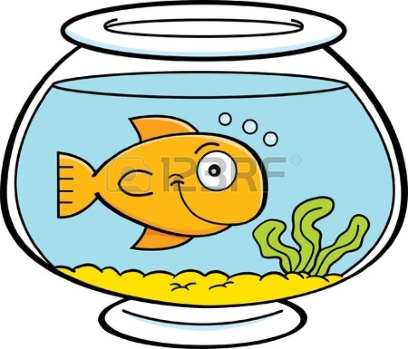 Goldfish Clip Art Black And White Goldfish Bowl Clipart ...