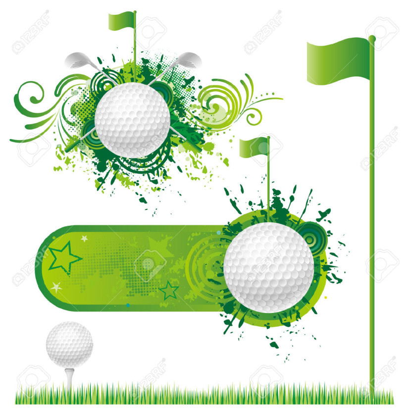 Golf Background Cliparts Stock Vector And Royalty Free Golf