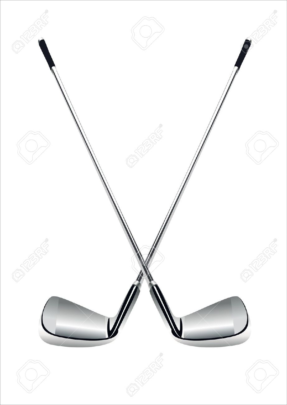 Golf Clubs On White Background Royalty Free Cliparts Vectors And