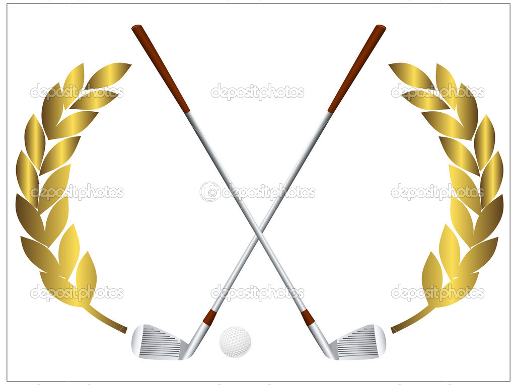 Golf Clubs Stock Vector Coline