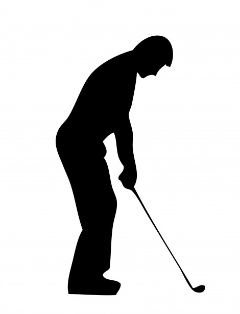 Golf Player Silhouette Clipart Free Stock Photo Public Domain
