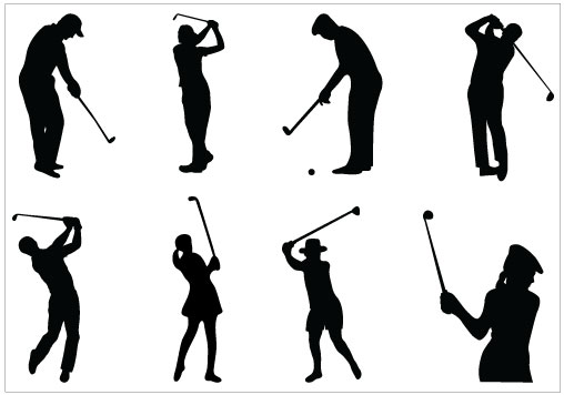Golf Silhouette Clipart Free Clip Art Images
