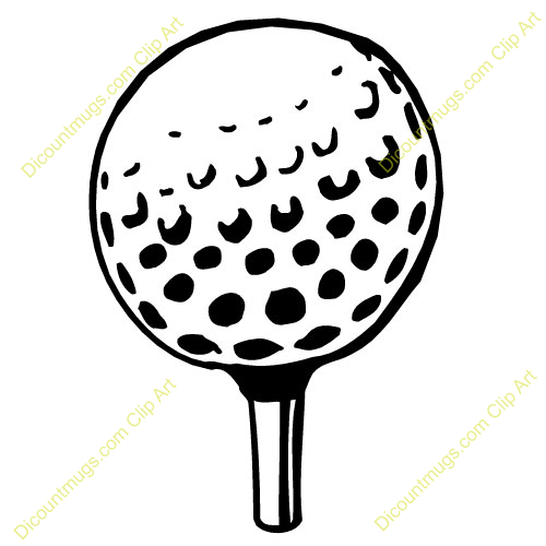 Golfball With Tee Description Keywords Sports Golf Clipart Free