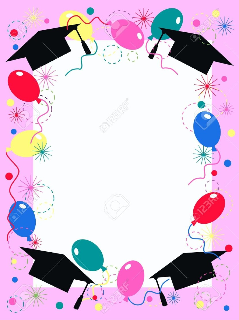 Graduation Invitation Or Celebration Card Royalty Free Cliparts