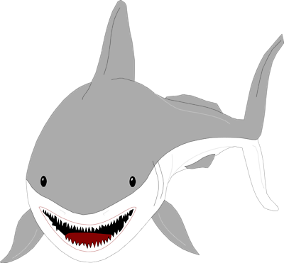 Great White Shark Clipart Free Clipart Images