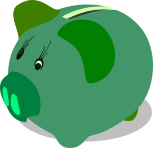 Green Piggy Bank Clip Art At Vector Clip Art Online