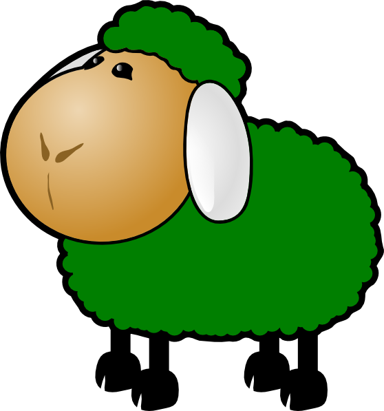Green Sheep Clip Art At Vector Clip Art Online