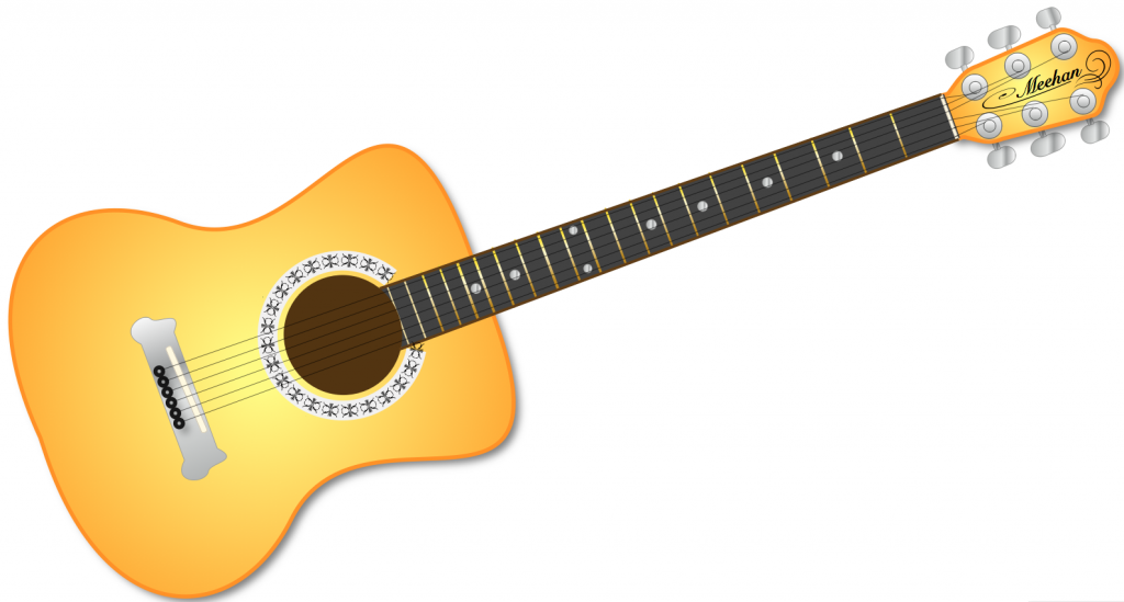 Guitar Black And White Music Png Clipart Free Clip Art Images