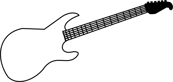 Guitar Outline Template Free Clipart Images