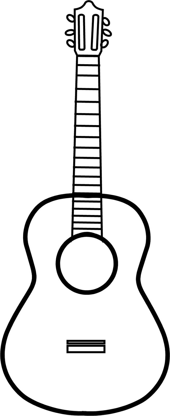 Guitar Outline Vinyl On The Go Guitar Adult And Children\'s