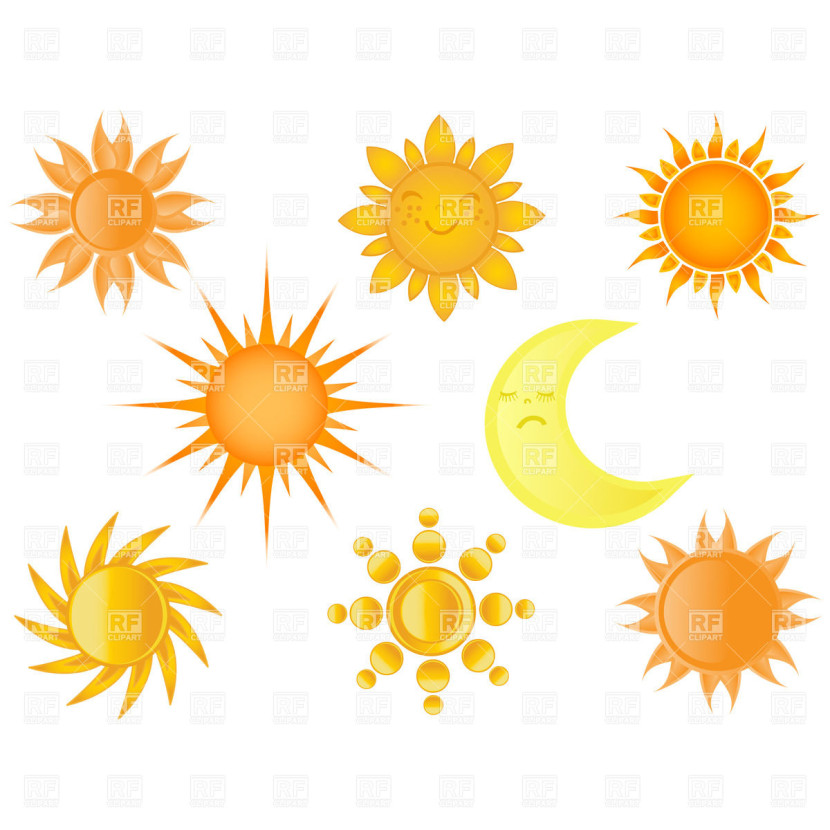 Half Sun Black And White Clipart Free Clip Art Images