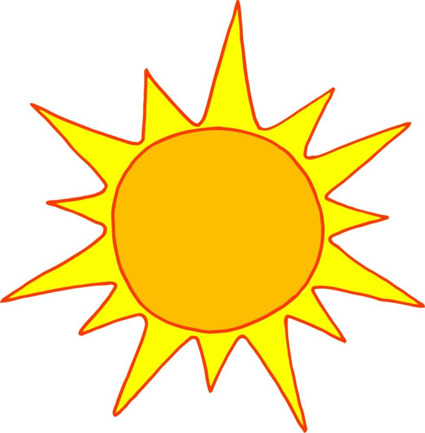 Best Half Sun Clipart #16264 - Clipartion.com