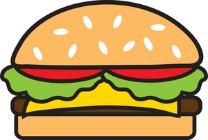 Hamburger Clipart Black And White Free Clipart