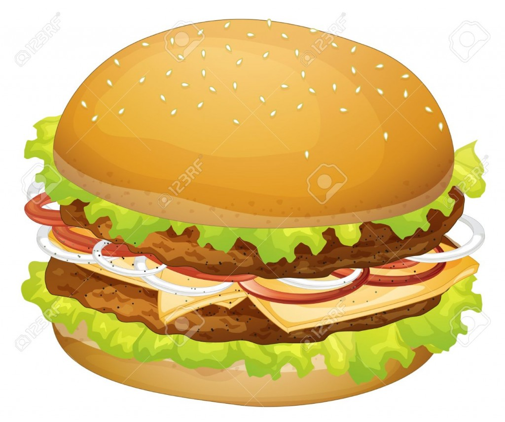 Hamburger Illustration Cliparts Stock Vector And Royalty Free