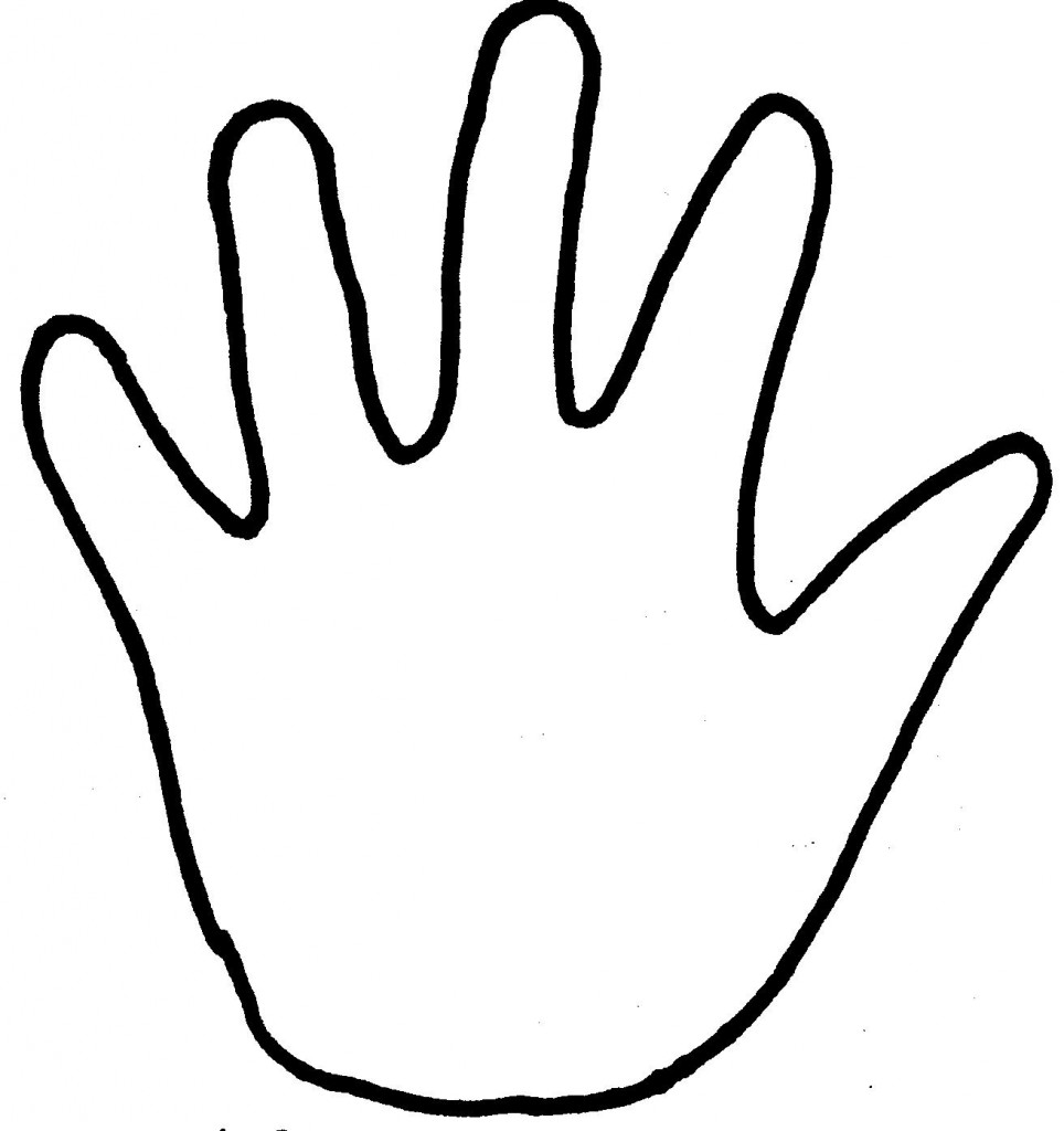 handprint outline