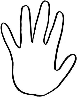 Handprint Outline Clipart Free Clipart Images