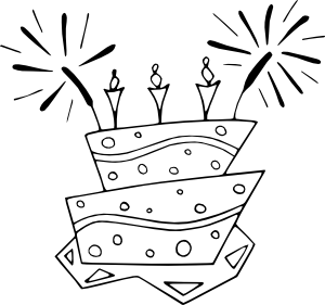 Happy Birthday Balloon Clip Art Black And White Gallery