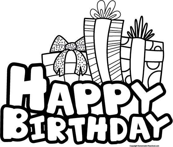 Happy Birthday Black And White Clipart Gallery