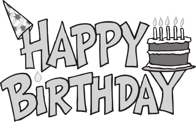 Happy Birthday Clip Art Black And White Download Free Happy