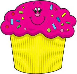 Happy Birthday Cupcake Images And Vector Clipart Free Clip Art