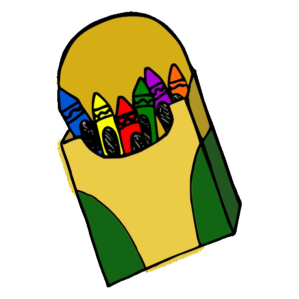 Happy Crayon Box Clipart Free Clipart Images