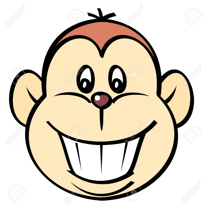 Happy Monkey Vector Illustration Royalty Free Cliparts Vectors