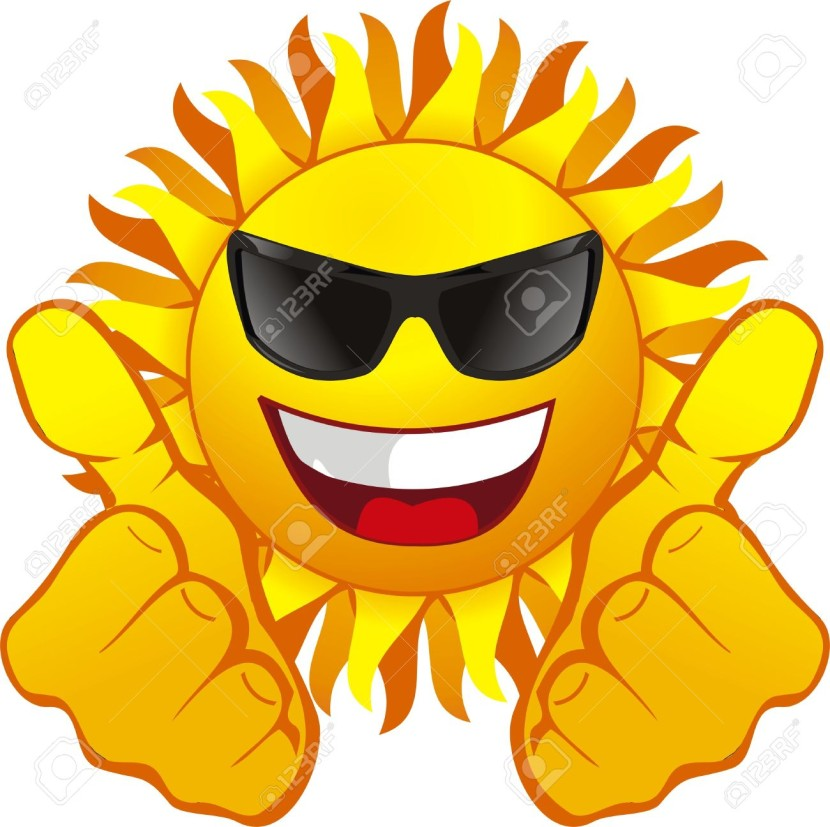 Happy Sun With Glasses Royalty Free Cliparts Vectors And Stock