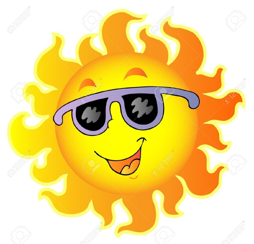 Happy Sun With Sunglasses Royalty Free Cliparts Vectors And