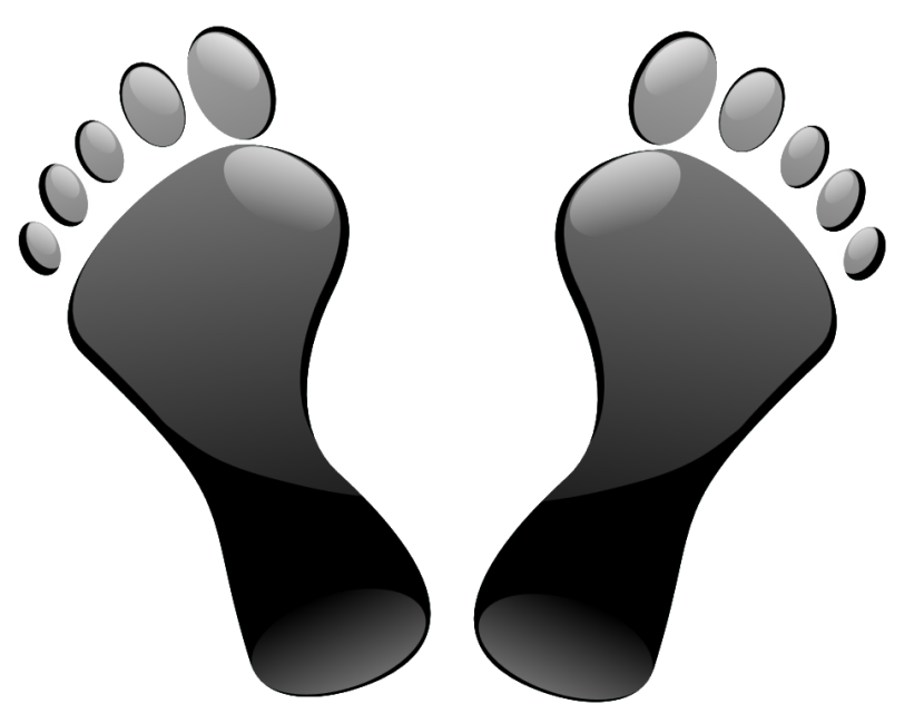 Happy walking-feet Feet Clip Art