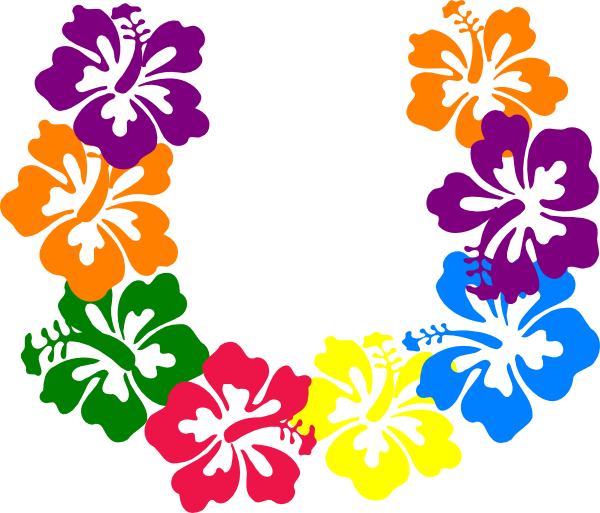 Hawaiian Flower Clip Art Borders Free Clipart Images