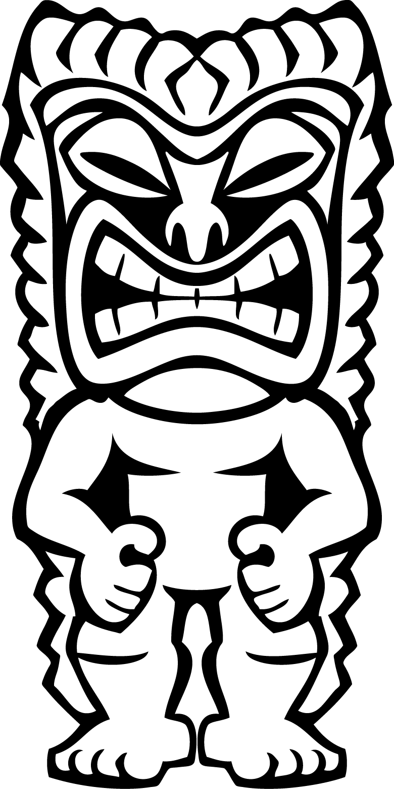 Hawaiian Tiki Masks Coloring Pages Clipart Free Clip Art Images