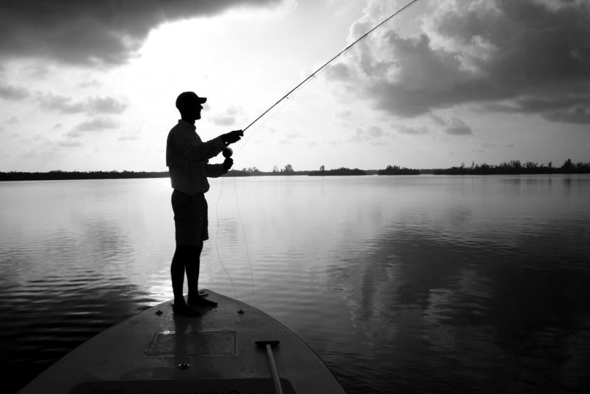 Hd Flyfisher Silhouette Florida Sportsman