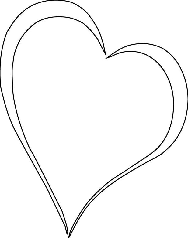 Clip Art Line Of Hearts : Black and white heart clipart clipartion