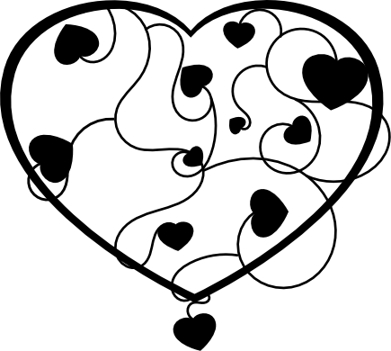 Heart Clip Art Black And White Hearts Clip Art
