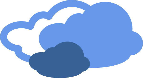 Heavy Clouds Weather Symbol Clip Art At Vector Clip