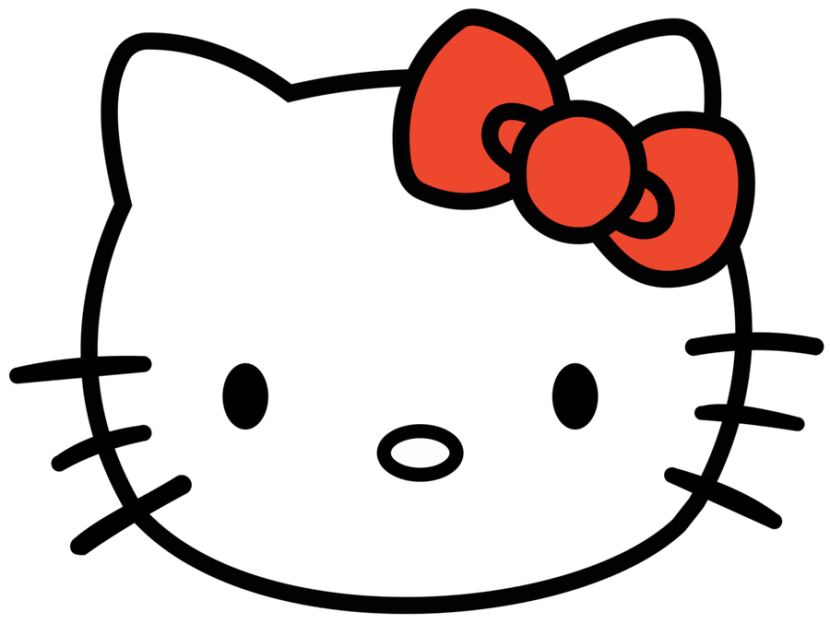 Hello Kitty Clipart Cat Face Head Hello Kitty Red Bow Pro