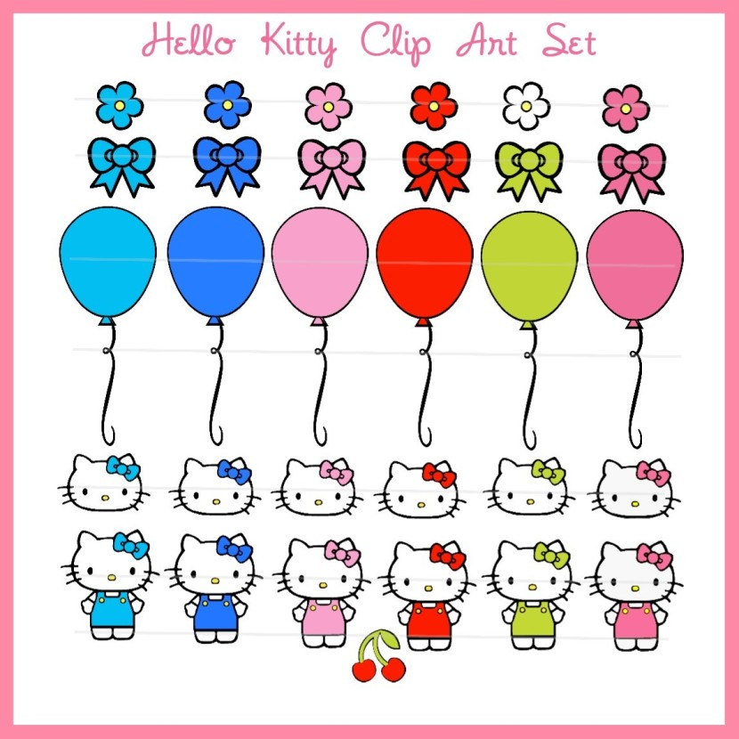 Hello Kitty With Balloons Clipart Funny Pics