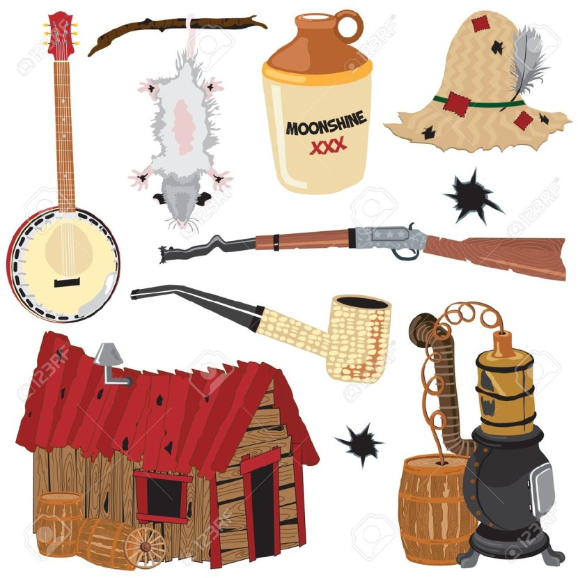 Hillbilly Clipart Icons And Elements Royalty Free Cliparts