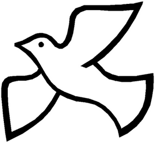 Holy Spirit Dove Clipart Black And White Free