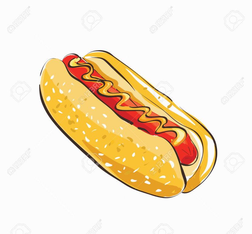 Free Cartoon Hot Dog Clipart