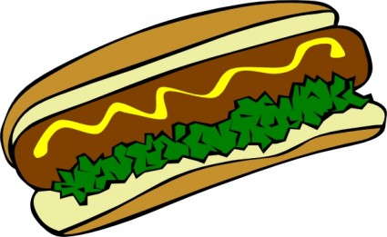 Hot Dog Clip Art Free Vector In Open Office Drawing