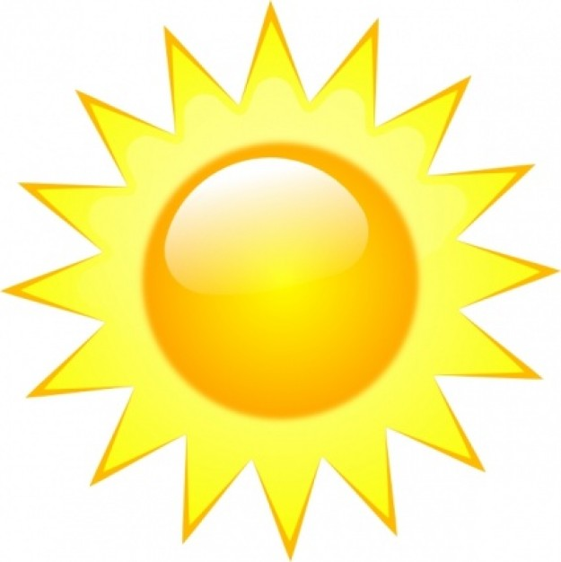 Hot Sun Clipart