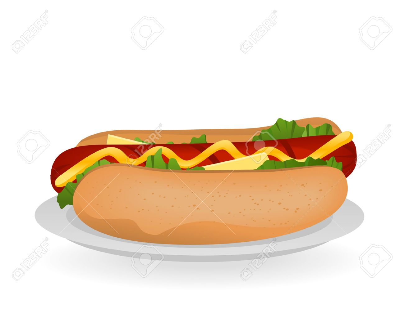 Hotdog Stock Vector Illustration And Royalty Free Hotdog Clipart