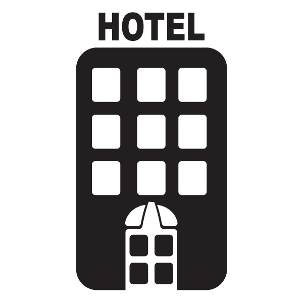 Hotel Vacation Tourism Clip Art For Custom Engraved Products