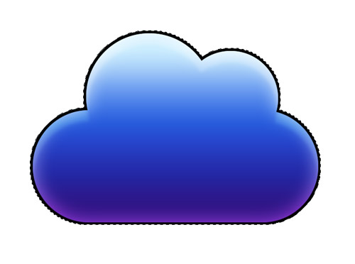 How To Create A Vibrant Cloud Icon In Photoshop