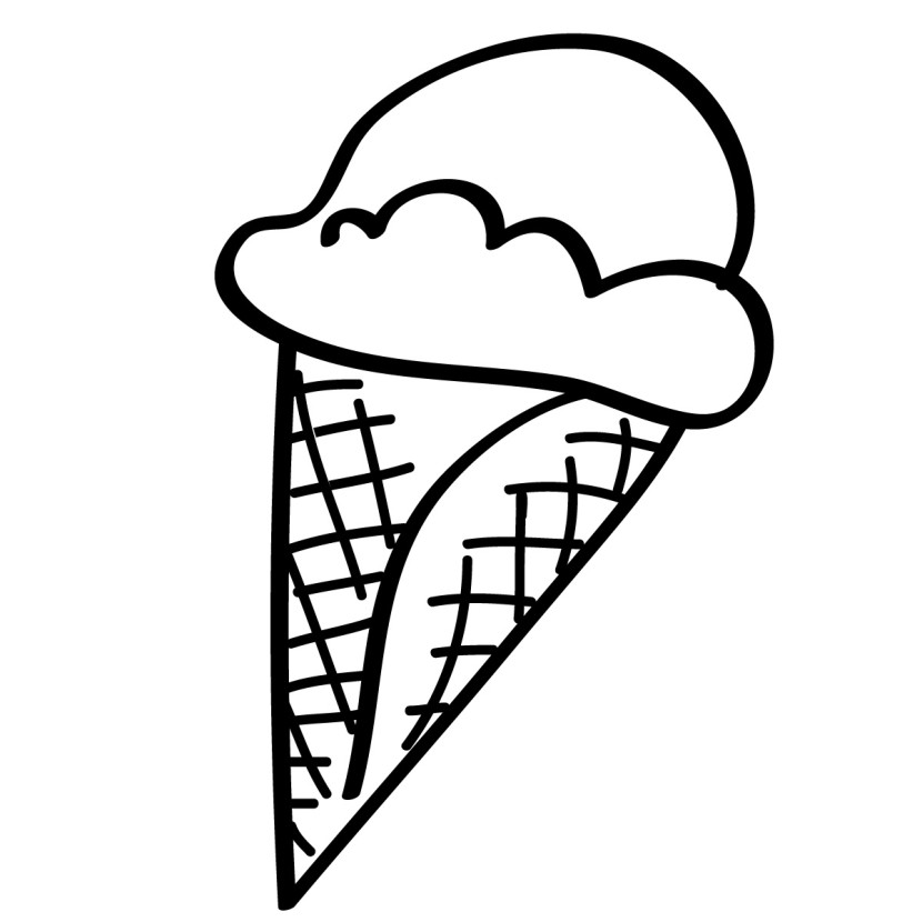Ice Cream Clipart Black And White
